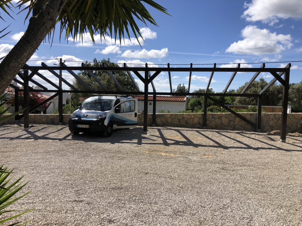 Carport before we started
