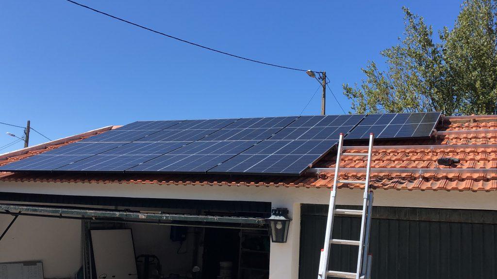 Solar on garage roof